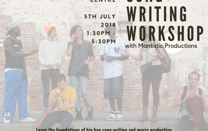 July School Holiday - Hip Hop Song Writing Workshop